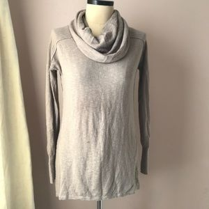 Anthropologie Ruby Moon Tan Cowl Neck Tunic XL